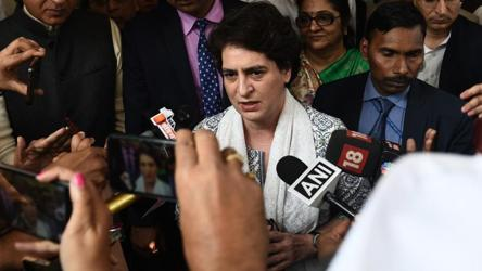 After Sonia, Priyanka Gandhi demands Amit Shah's resignation
