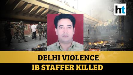 Delhi violence: Intelligence Bureau staffer, a cop's son, killed; family mourns