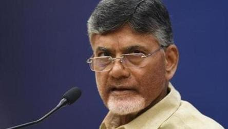 Naidu attacked with eggs, footwear in Vizag, arrested for his 'own safety'