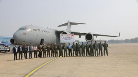 IAF airforce relief flight evacuates Indians, foreigners from virus-hit Wuhan