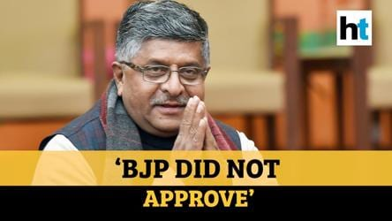 'BJP did not approve': RS Prasad over inflammatory speeches by party leaders