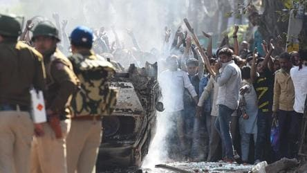 Delhi riots: Men came in trucks carrying bricks and bags, allege locals