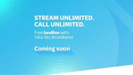 Tata Sky Broadband will soon offer free landline calling service