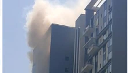 Fire breaks out on 16th floor of apartment in Kolkata's Bhawanipore