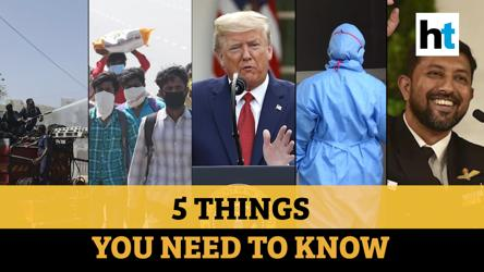 Trump extends curbs, rapid testing in Kerala and more, top 5 stories from HT