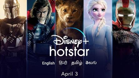 Disney+ is coming to India on April 3 via Hotstar