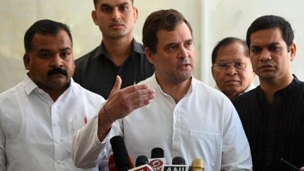 'Shining torches in the sky won't solve the problem': Rahul Gandhi