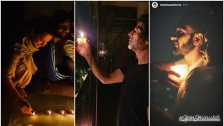 9pm 9mins: Akshay, Kangana light diyas in response to PM Modi's call