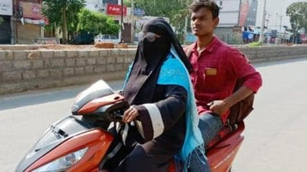 Woman, 50, rides 1,400 km on scooty to bring back son stranded in Andhra