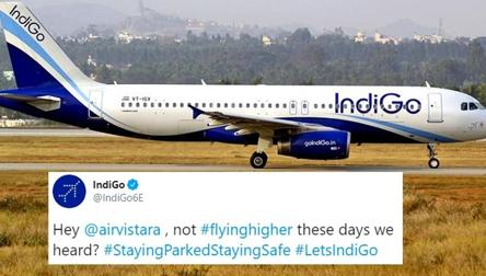 IndiGo, Vistara's Twitter banter joined by other airlines. Hilarity ensues