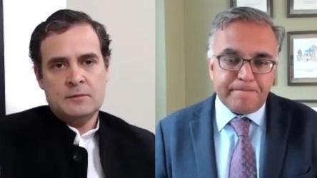 In dialogue with Rahul Gandhi, Harvard professor discusses lockdown exit