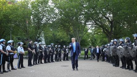 Trump declares he's president of law, order amid protests