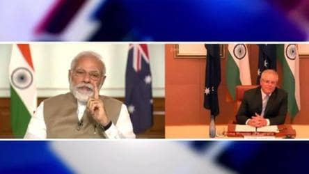 'Our ties are deep with shared values': PM Modi during virtual summit with Australian PM