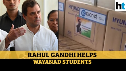 Rahul Gandhi provides smart TVs to students in Wayanad for online classes
