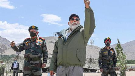 'Expansionism era over, your fire and fury seen': PM to soldiers in Ladakh