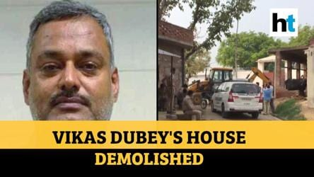 Kanpur encounter: District administration demolishes accused Vikas Dubey's house