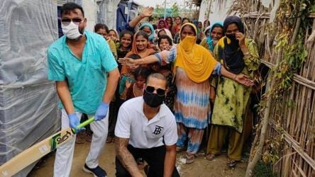 Spreading joy under pandemic: Shikhar Dhawan visits Delhi's Hindu refugees