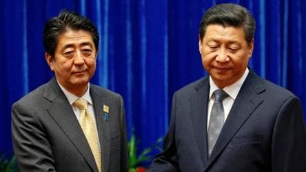 Not welcome: Japan's Shinzo Abe could cancel state visit by China's Xi Jinping