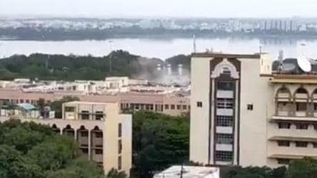 Telangana begins demolition of old secretariat complex, opposition protests