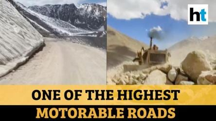 Ladakh: BRO expanding strategic Khardung La road amid face-off with China