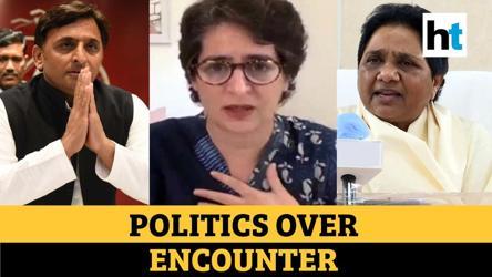 Vikas Dubey killed: Watch Priyanka Gandhi, Akhilesh Yadav & Mayawati's response