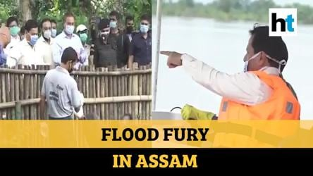 Assam floods: CM Sonowal visits Kaziranga National Park to assess damages