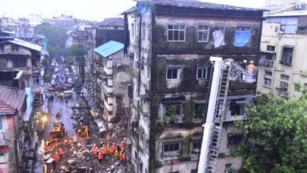 4 dead in two building collapse incidents in Mumbai as rains lash city