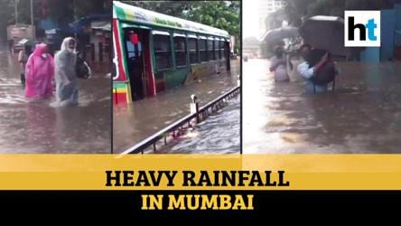 Watch: Heavy rainfall, waterlogging in parts of Mumbai; red alert issued