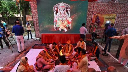 In pics: Fireworks, havan as India celebrates historic Ram mandir event