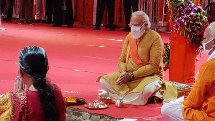 At Ayodhya Ram temple event, PM reiterates mantra to fight coronavirus