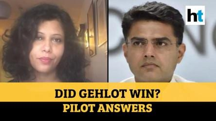 Did Ashok Gehlot win in the end? Sachin Pilot answers | Rajasthan crisis