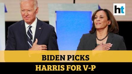 Joe Biden picks Kamala Harris as his US vice-presidential candidate