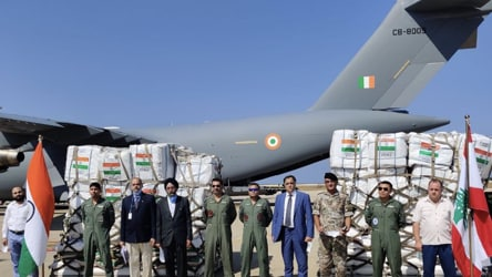 Beirut blast: India sends 58 tonnes of emergency aid to Lebanon