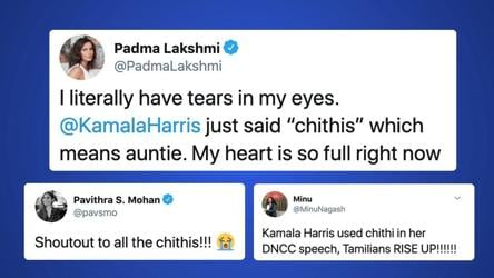 Kamala Harris Mentions Her Chithis In Her Democratic Convention Speech Twitter Can T Keep Calm It S Viral Hindustan Times
