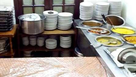 Packed food may be served at House canteen
