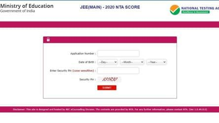Jee Main Result 2020 Declared At Jeemain Nta Nic In Direct Link To Download Scorecard Education Hindustan Times
