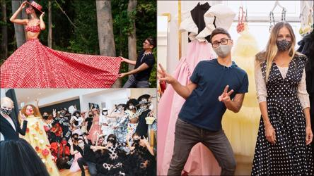 New York Fashion Week Designer Christian Siriano Flaunts Spring 2021 Collection From Backyard Backstage Moments In Kitchen Fashion And Trends Hindustan Times