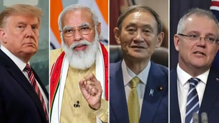India is not averse to institionalising the Quad dialogue that seeks to establish promote and secure IndoPacific principles particularly against the backdrop of Chinas aggressive moves