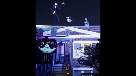 Halloween 2020 Reddit Review House decorated with custom made The Nightmare Before Christmas