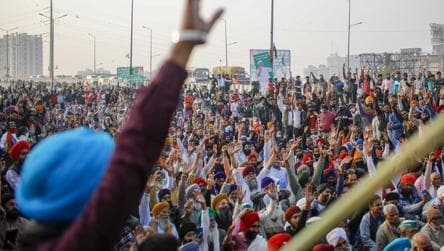Agitating farmers to hold torch march
