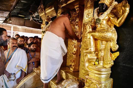 Sabarimala temple closes after pilgrimage season; political war continues