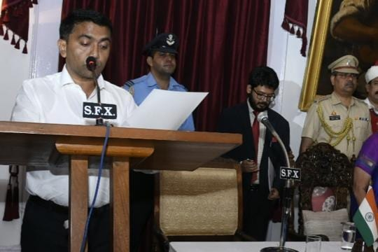 At 2 am oath ceremony, Pramod Sawant takes over as Goa Chief Minister