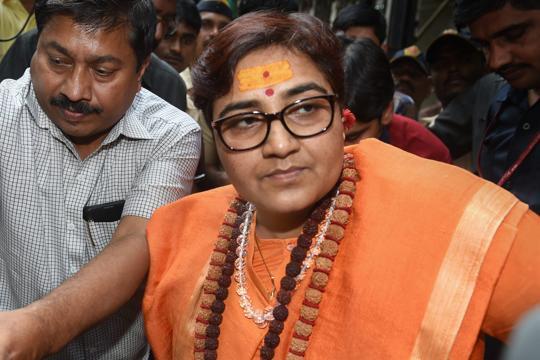 'Take back my statement, apologise': Sadhvi Pragya on Hemant Karkare remark