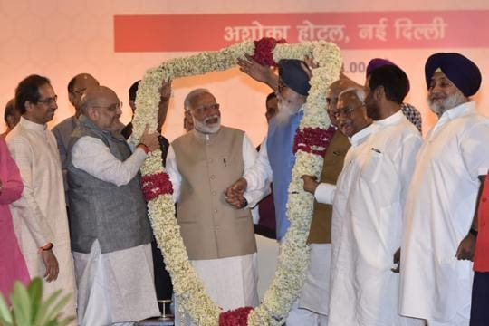 Ahead of counting day, BJP hosts show of strength