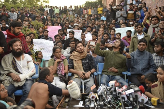 'Outside 100m of admin block': JNU moves court against agitating students
