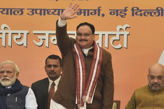 JP Nadda elected BJP's chief amid praise from top brass