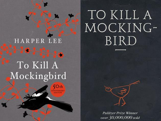 Two different covers of To Kill a Mockingbird by Harper Lee