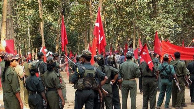 A gathering of Maoist cadre at an undisclosed place in Chhattisgarh, March 15, 2007(PTI)