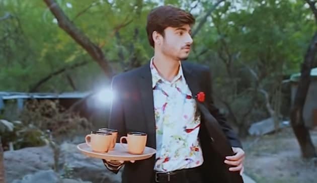"Screenshot of Arshad Khan starring in a music video called ""Chaiwala - feat. Arshad Khan."""