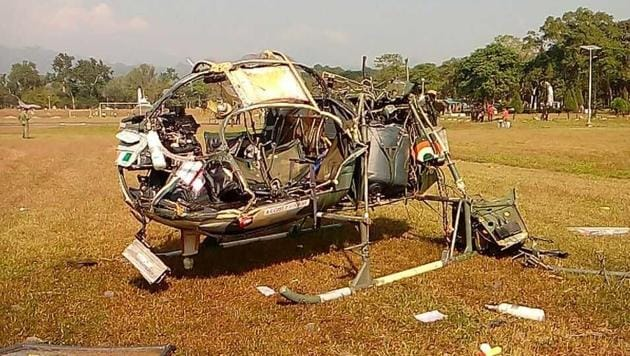 Three army officers were killed when a Cheetah helicopter crashed at Sukna military camp in West Bengal.(Special arrangement)